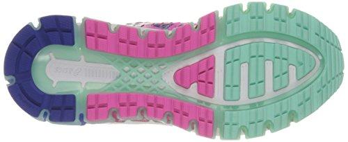 ASICS Kids Girl's Gel-Quantum 360 GS (Little Kid/Big Kid) ASICS Blue/Pink Glow/Mint Sneaker 2 Little Kid M