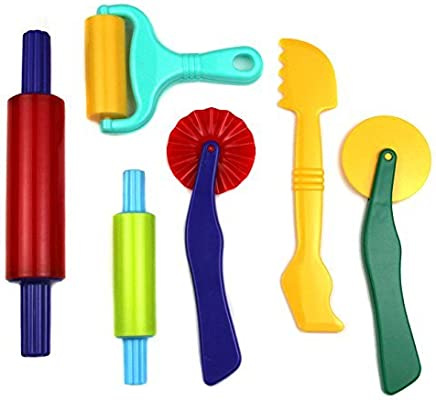 Strokes Art Clay and Dough Tools Six Piece Set Ages 3 /& Up