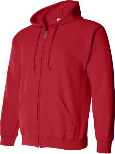 Gildan - Sudadera con cremallera y capucha Modelo Blend Unisex - Deporte/Gimnasio/Running Gris deportivo
