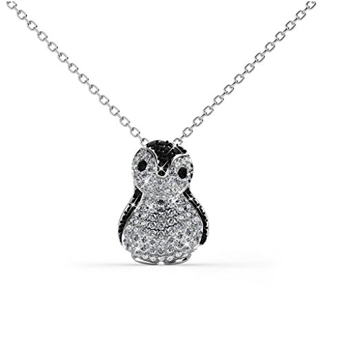 Her Jewellery Penguin Pendant - Embellished Crystals from -