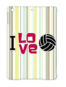 Shatterproof Miscellaneous Sports Volleyball For Ipad Air Pink I Love Volleyball Protective Hard Case