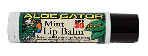 Aloe Gator SPF 30 Moisturizing Lip Balm, Mint