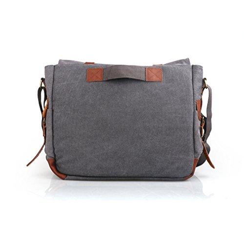 0ef9a78479dd Oflamn Men's Large Vintage Canvas Shoulder Bag Laptop - Import It All