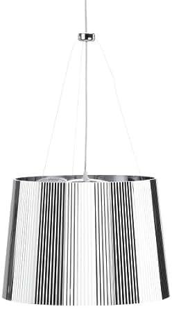 Kartell 9080XX Ge - Lámpara de techo transparente cromada