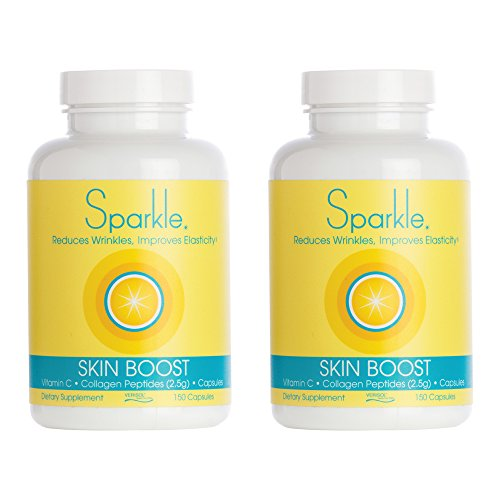 Sparkle Collagen Peptide Supplement Capsules (2 Pack) 30 Days Pills 2500mg Featuring Verisol Bioactive Collagen Peptides,150 Capsules by Sparkle Collagen (Image #9)