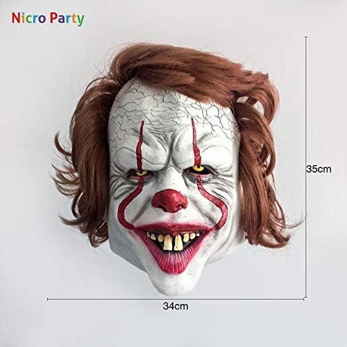WSJDE Nicro Stephen KingS It Mask Pennywise Horror Clown Joker ...