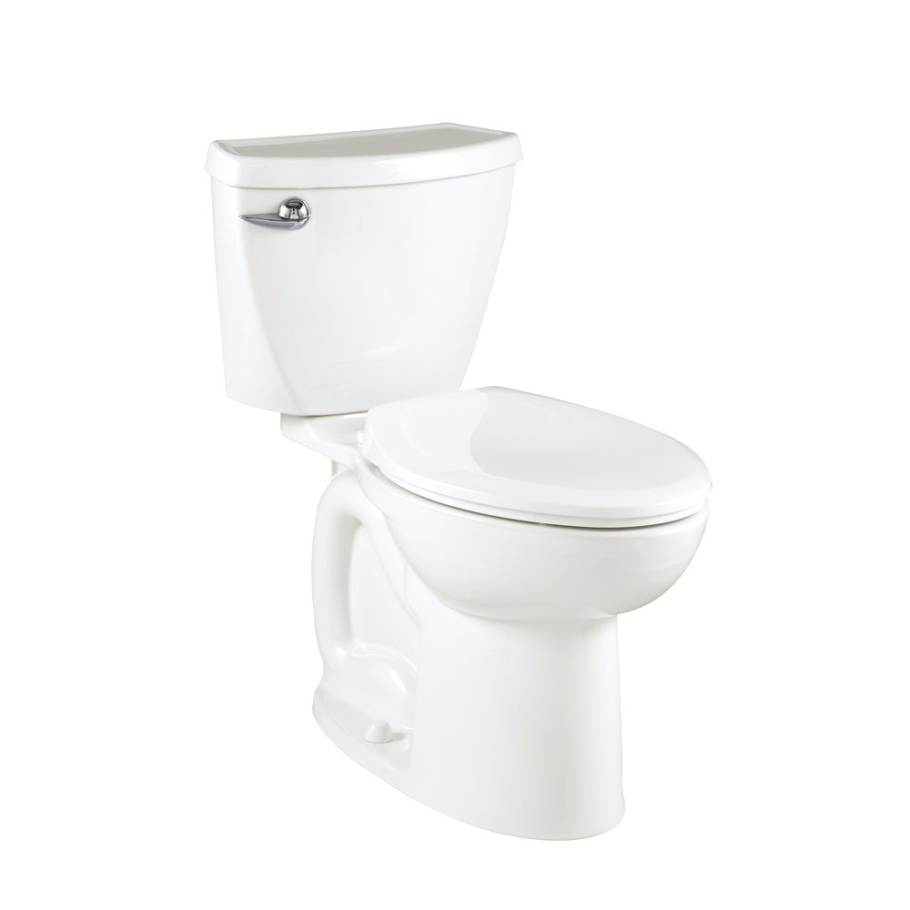 American Standard Cadet 3 Compact Right Height Elongated Flowise Two-Piece High Efficiency Toilet with 12-Inch Rough-In, White White