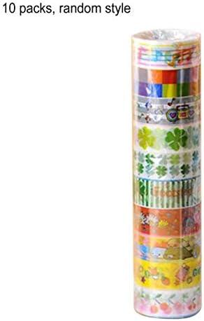 Tivollyff 装飾的なスクラップブッキングの弾丸ジャーナルプランナーのためのかわいい漫画テープセット日本のDIYクラフト紙テープ