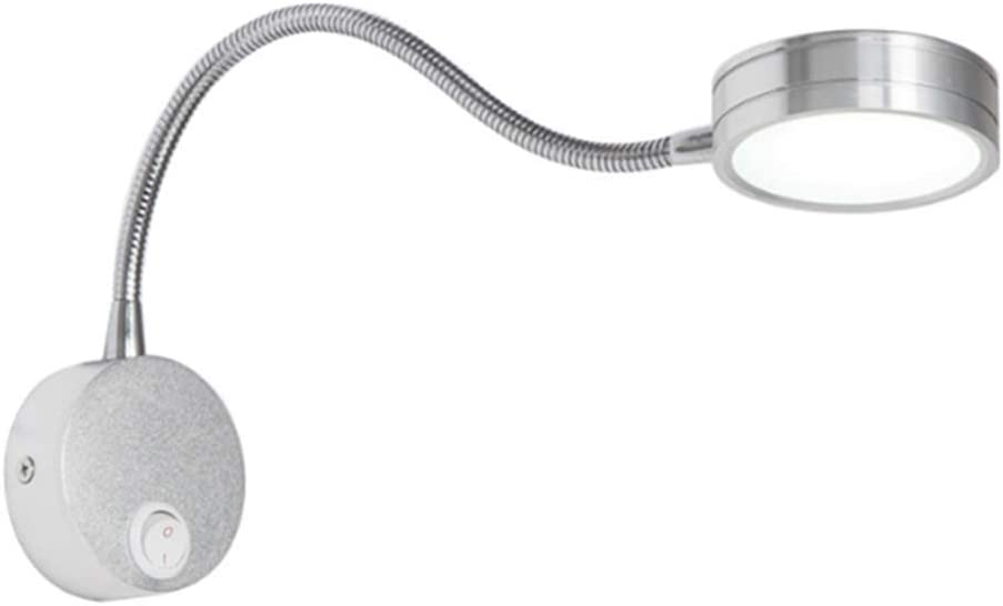 WOAIM Lámparas de Pared Aplique de Pared Manguera Luz Nocturna Aluminio Creativas Pasillo Sala de Estar Escaleras Dormitorio con Interruptor de Pulsador,White,Warmlight: Amazon.es: Hogar