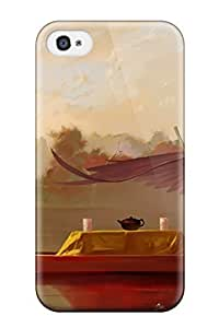 Beautifulcase animal boat bow brown cat Anime Pop Culture hllPEP9Ip7g Hard Plastic iPhone 4/4s case covers