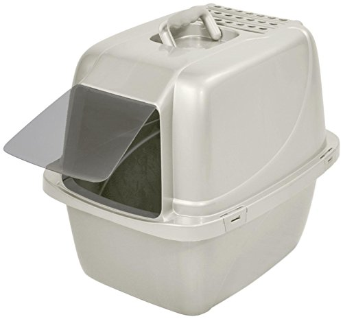 Van Ness Enclosed Pan with Door – White – Large