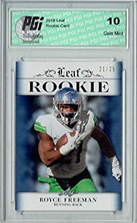 the latest 6ca06 7acea Amazon.com: Royce Freeman 2018 Leaf #RA-15 Sapphire College ...