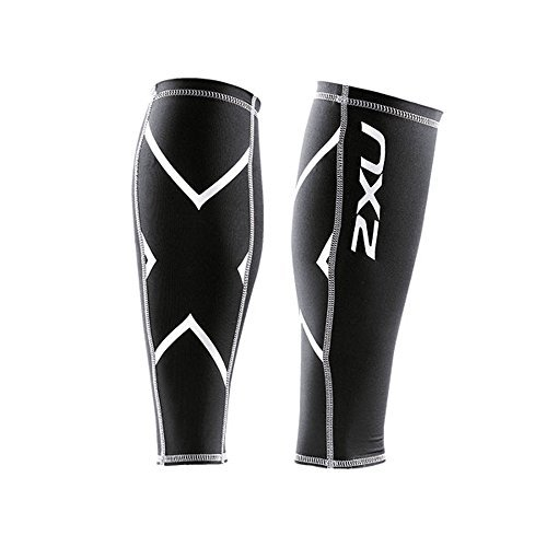 2XU Unisex Compression Calf Guards Black/Black S