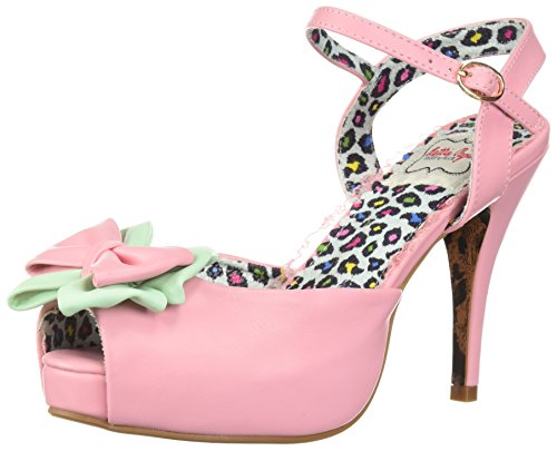 Vixen Page BP412 Sandal Bettie Women's Pink Heeled w6fOAq