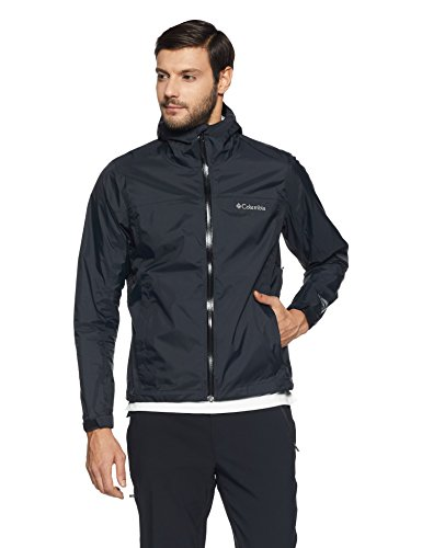 Columbia Men's EvaPOURation Jacket, Black, 3X by Columbia