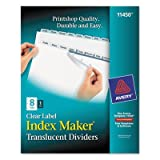 Index Maker Clear Label Punched Dividers, Clear 8-Tab, Letter, Total 24 ST, Sold as 1 Carton
