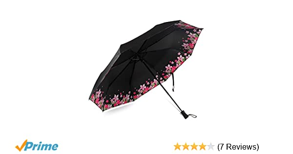 Amazon.com: Loplay Parasol Umbrella, 99% UV Protection Travel Folding Sun Rain Umbrella- Compact UPF 50+ UV Block Umbrella (Black): Sports & Outdoors