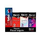 Kit 21 Condones Latex + Lubricante Soft Lube Original Sico