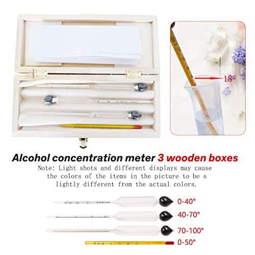 Best Design Alcohol Instrument 3pcs Set Alcoholmeter Meter Wine Concentration, Wine Alcohol Meter - Spirits Hydrometer, Alcohol Meter, Beer Meter, Measuring Alcohol, Wine Hydrometer, Alcohol Measurer from KedyStore-TM