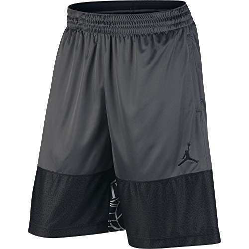 Nike Mens Jordan Wings Blockout Pantaloncini Da Basket Grigio Scuro / Nero