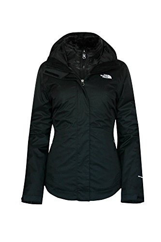 The North Face Women's MOSSBUD SWIRL Triclimate 3 in 1 System Jacket TNF BLACK (L)