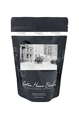 NYC Fire Department's Horse Drawn Engine - Vintage Photograph (8oz Whole Bean Small Batch Artisan Coffee - Bold & Strong Medium Dark Roast w/ Artwork)
