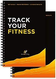 Workout Log Book & Fitness Journal/Planner - Designed by Experts, w/Illustrations : Track Gym, Bodybuildin