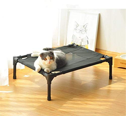 FVCDWSA Cama para Mascotas elevada, portátil ensamblada, Cama de Perro Impermeable para nutrición al Aire Libre, Tubo de Acero a Prueba de Herrumbre, ...