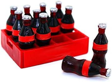 Pergrate 620/5000 Miniatura Bebidas Bandeja a Dozen para Beber Botellas Casa de Muñecas Accesorios Niños Juguete Regalo