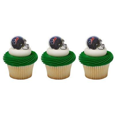 Houston Texans Candy (Bag of 12 ~ NFL Houston Texans Helmet Ring ~ Cake / Cupcake Topper)