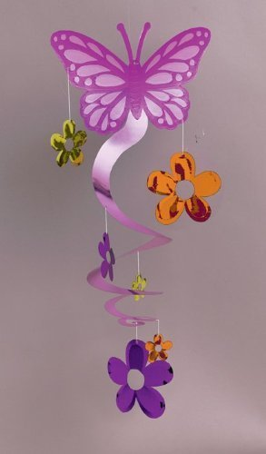 Amscan International Butterfly Spiral Decoration 672067