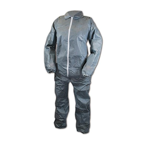 Magid EconoWear Lite N Kool Plus SMS Fabric Coverall, Disposable, Elastic Cuff, Gray, 3X-Large (Case of 25) by Magid Glove & Safety (Image #3)