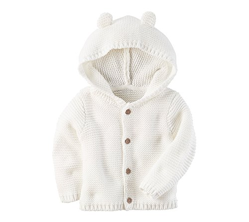Carters Textured Hoodie Ivory Months
