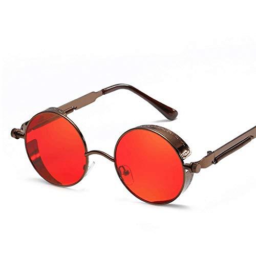 de Style polarisées rétro UV400 Color 4 Soleil Vintage Matel de Steampunk Lunettes Protection Frame Sakuldes Lunettes 20 Soleil PpqxOwtz