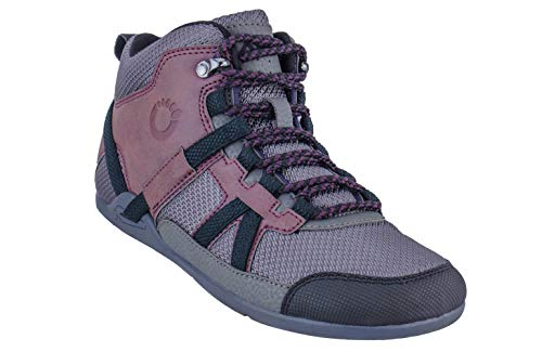Xero Shoes DayLite Hiker - Women's Barefoot-Inspired Minimalist Lightweight Hiking Boot - Zero Drop Trail Shoe - Burgndy/Black]()