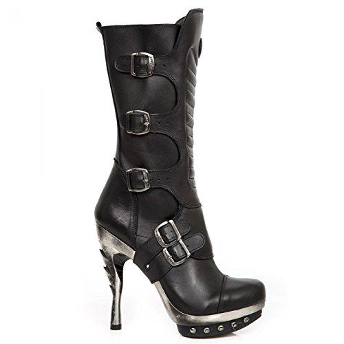 Nieuwe Rock Handgemaakte M Punk001x C1 Zwarte Vrouwen Laarzen