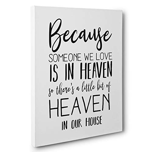 Someone We Love Is In Heaven Love Gift Canvas Wall Art by Paper Blast