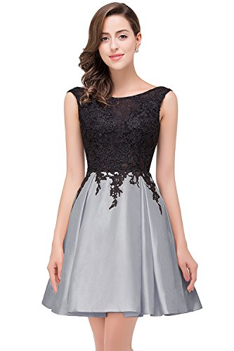 (Babyonlinedress Women's Taffeta Short Party Bridesmaid Gowns Homecoming Dresses (Silver,2) )