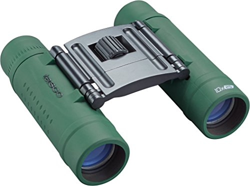 Tasco Unisex's 168125G, Essentials Binoculars, 10x25mm, Roof Prism, Green,...