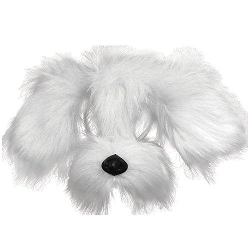 Bristol Novelty EM358 Shaggy Dog Mask with Sound On Headband, White, One Size]()