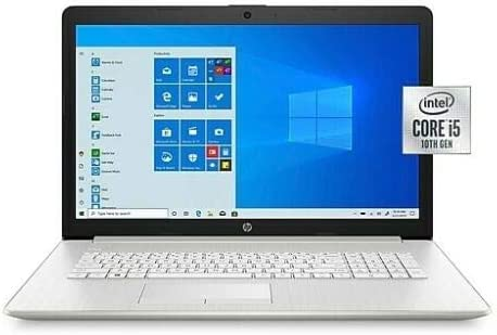 "HP 17-by3065st 17.3"" Notebook tenth GEN i5 8GB RAM 128GB SSD + 1TB HDD DVDRW Windows 10 17.3"" HD+ 1600X900"