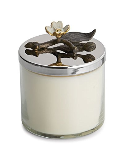Michael Aram Dogwood Scented Candle in beautiful glass decorative jar