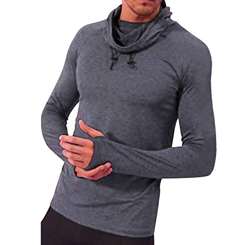 haoricu Mens Fashion Yoga Fitness Top Long Sleeve T Shirt Cotton Tee Hippie Hoodie Shirts from haoricu