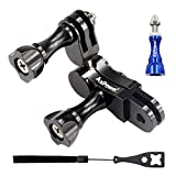 AxPower 360 Degree Swivel Arm for GoPro 3 4 5 6 Aluminum Alloy Rotary Ball Adapter Pivot Mount Extension Accessories for Campark ACT76 AKASO EK7000 Apeman Sport Camera