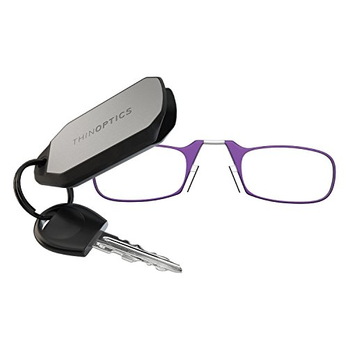 Expert choice for thinoptics keychain reading glasses, purple frame