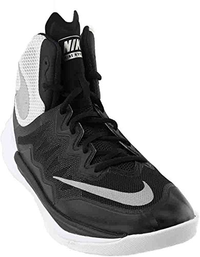 NIKE Women's Prime Hype DF II Basketball Shoe Black/White/Reflect Silver Size 9.5 M US