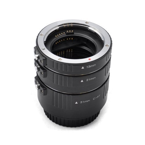 Kaavie -The Finest Aluminum Mount Version (Rugged and Lightweight, Best Option Extended Goal) - Set Automatic Extensions Ring for Canon Eos Ef / Af - * 3 Rooms: 13 Mm, 21 Mm, 31 Mm * Bayonet - Canon EOS Canon EOS 1d C, 1d X, 1d Mark I-iv, I-1ds Mark III, 5d Mark I-III, 6d 7d 60d 50d 40d 30d 20d 10d 1100d 1000d 650d 600d 550d 500d