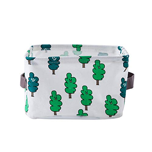 PING.FUE Cute Cotton Linen Fabric Desktop Waterproof Sundries Tool Organizer Cosmetics Office Stationery Storage Box 02