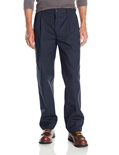 Red Kap Men's Pleated Work Pant, Navy, 46x34 ()