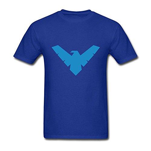 FITTSY Men's Batman Nightwing Symbol Short Sleeve T-Shirt X-Large Royal Blue